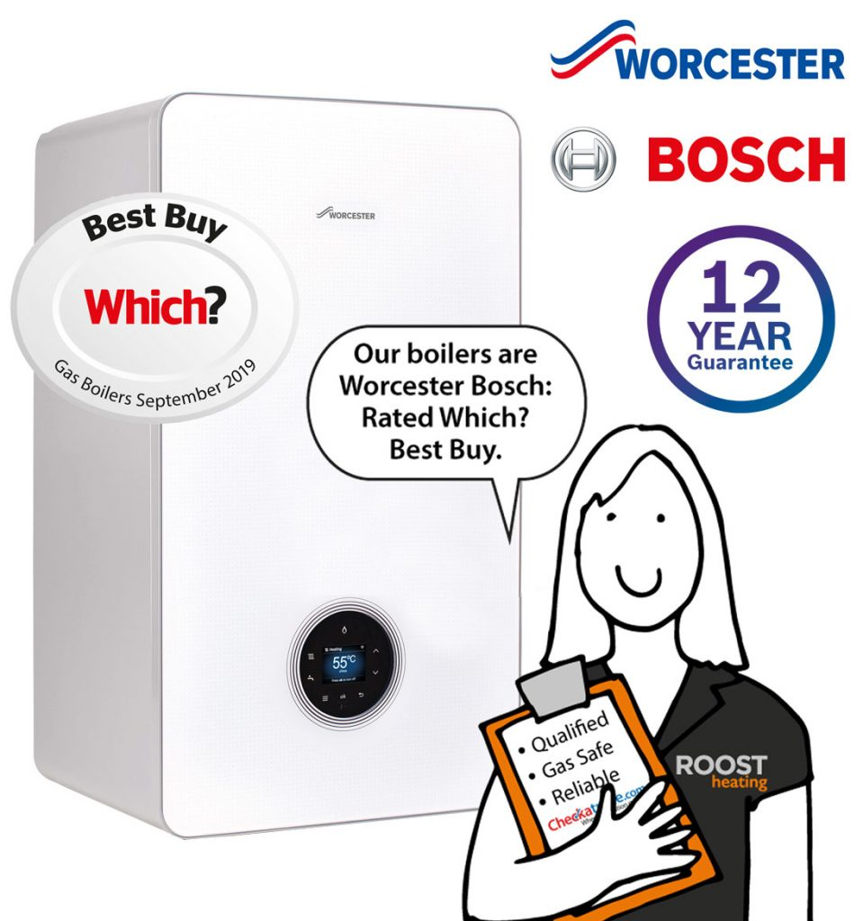 Worcester Bosch boiler with 12 year guarantee