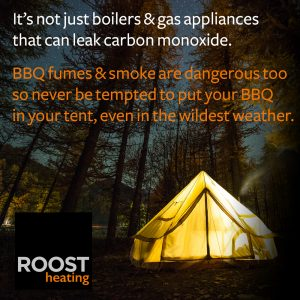 Tent safety and carbon monoxide
